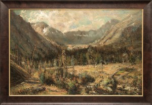 W.H.M Cox ouray colorado 19th century oil painting