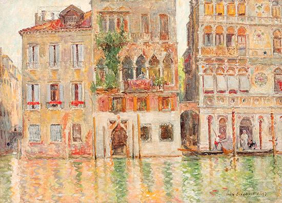 alt Venetian Canal Scene