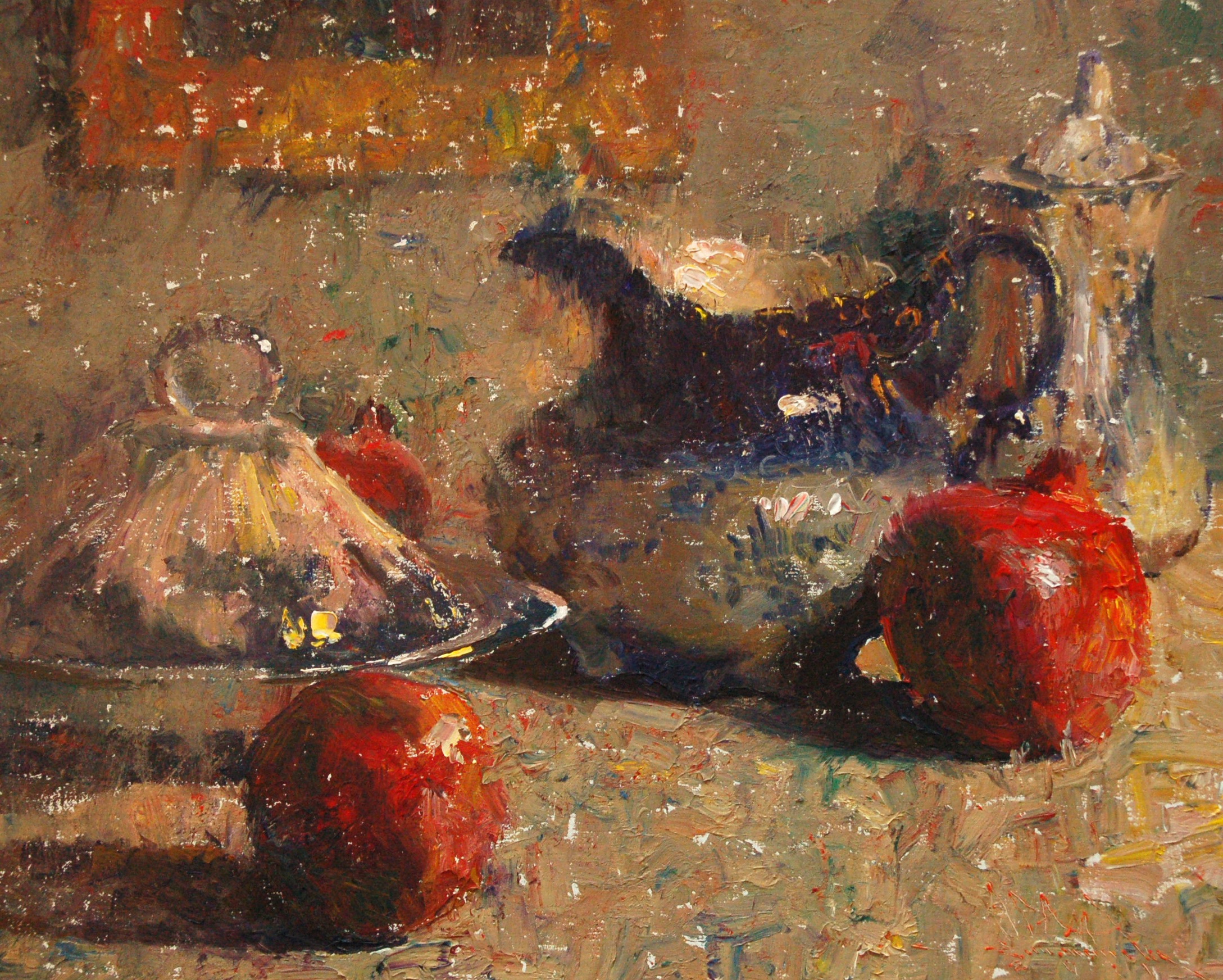 alt Flow Blue Porcelain with Pomegranates