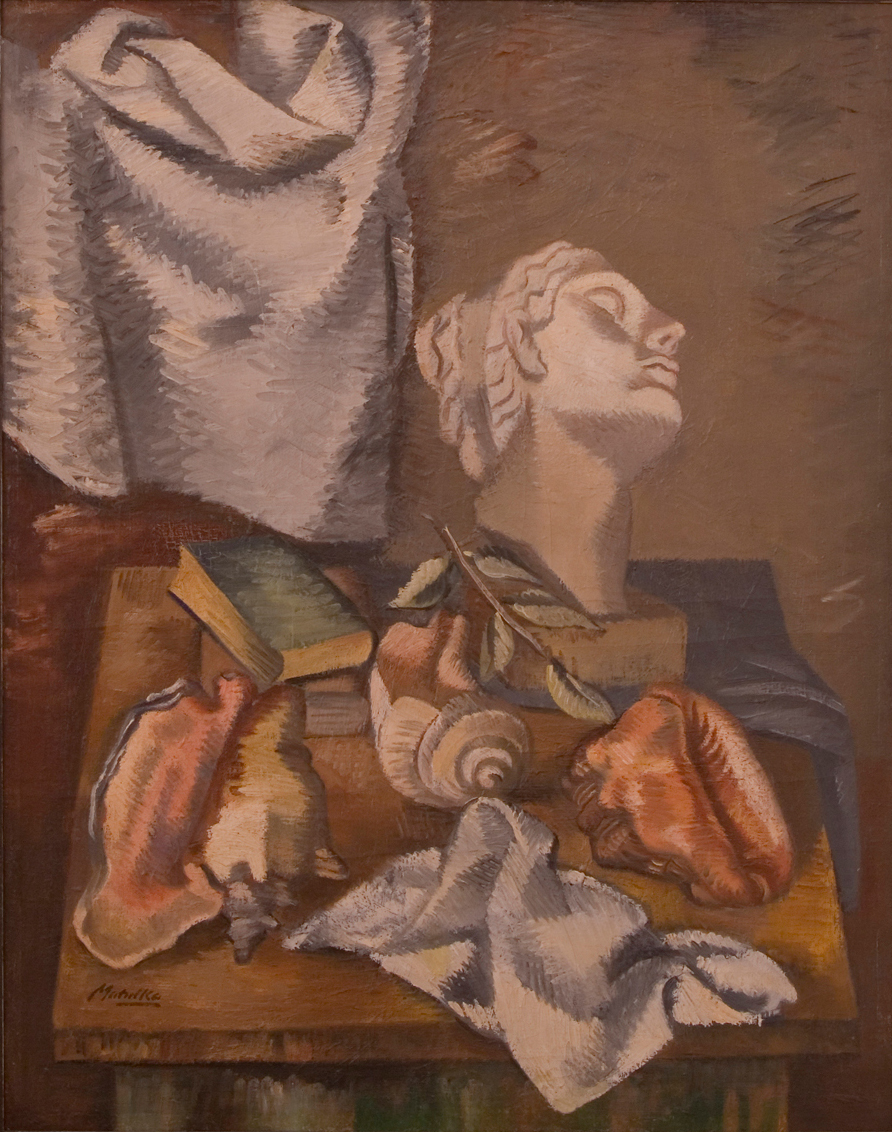 alt Still Life with Shells and Classical Head