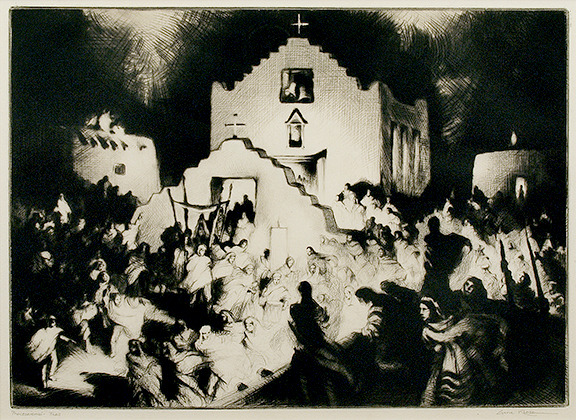 alt Processional, Taos (Christmas Processional at Taos); edition of 250