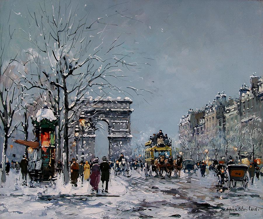 alt Champs Elysees, Winter
