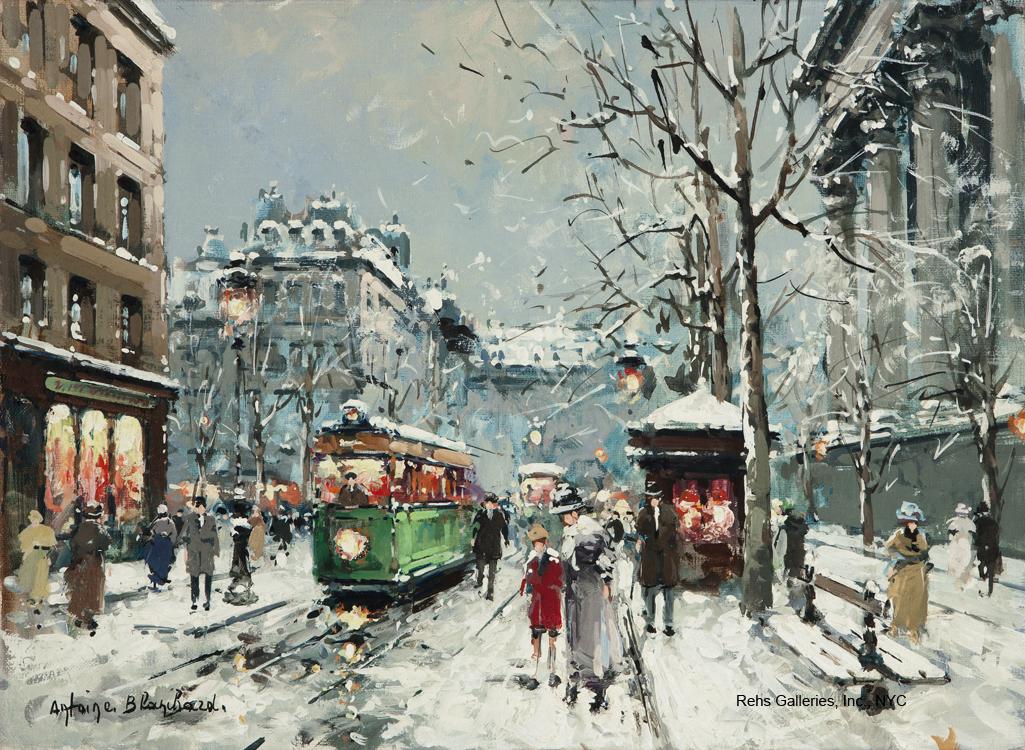 alt Place de la Madeleine, Winter