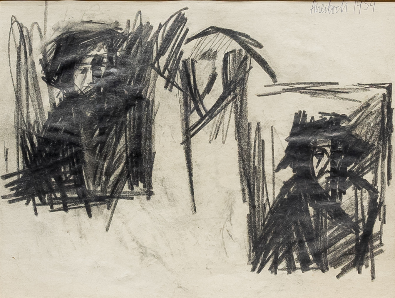 alt Study of The Brazen Serpent (and Self-Portrait), 1955