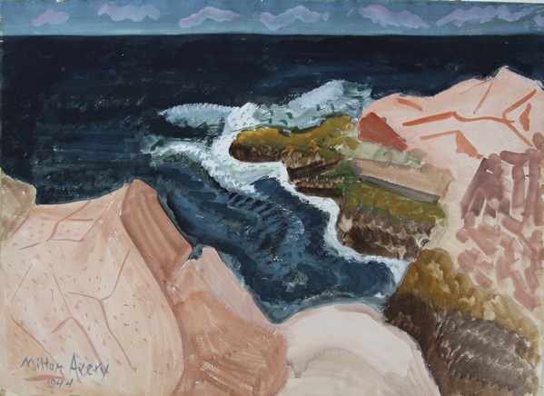 alt A Double-sided Work, Seascape, 1944 and Landscape, 1947