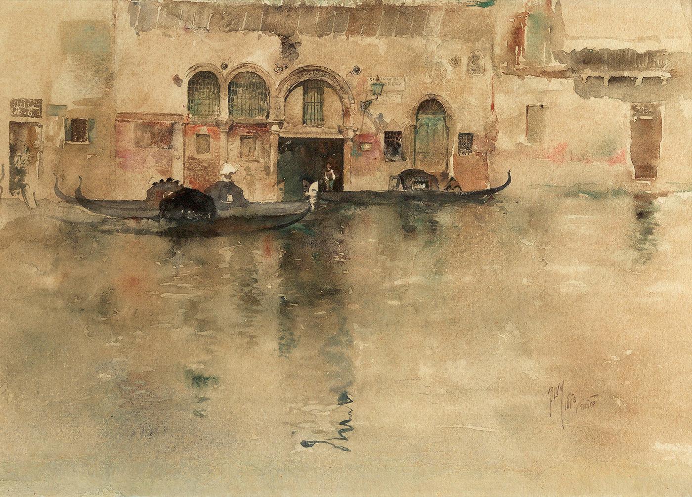 alt The Traghetto, Venice, 1880