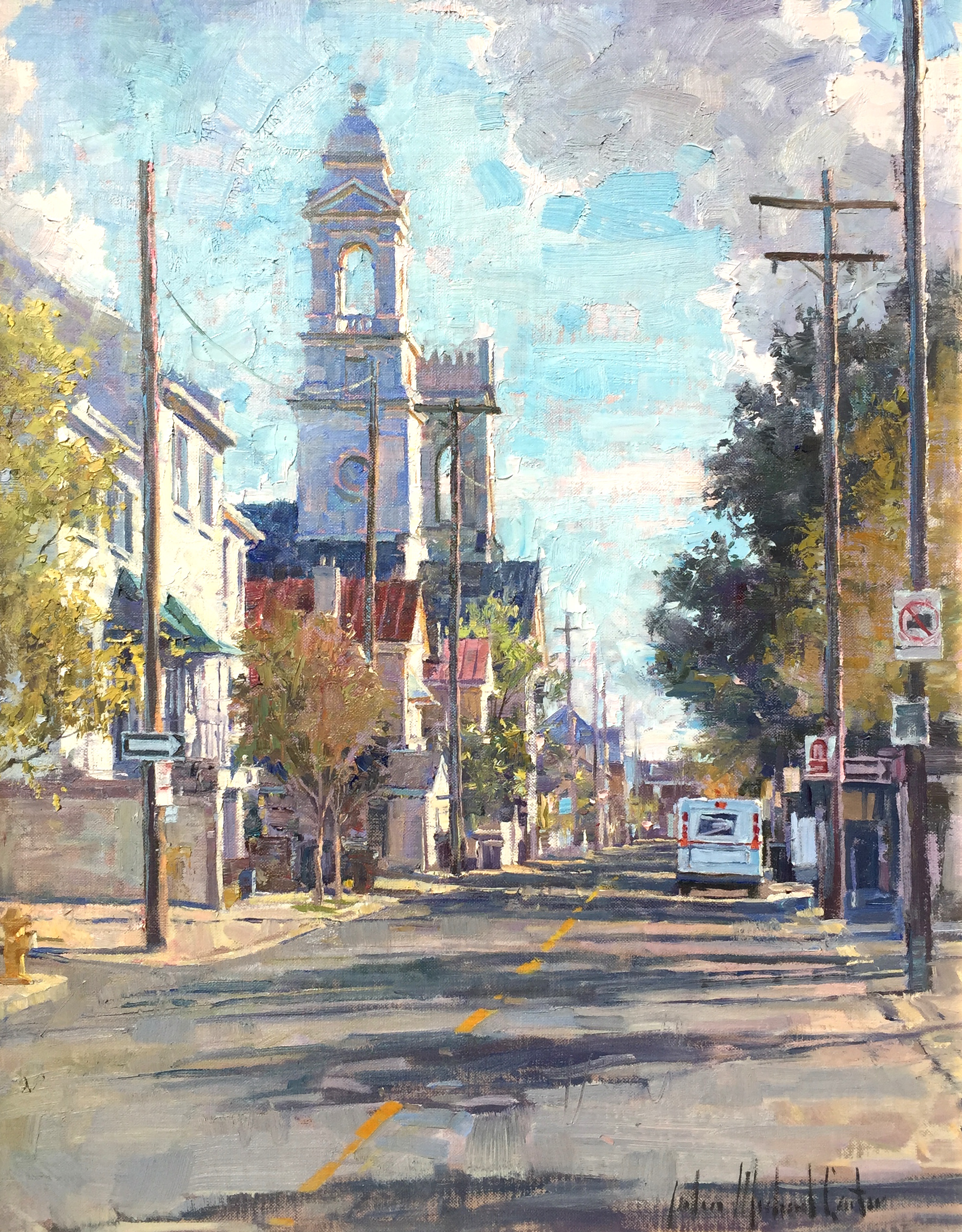 alt View of St. John's from Clifford Street, Charleston, South Carolina