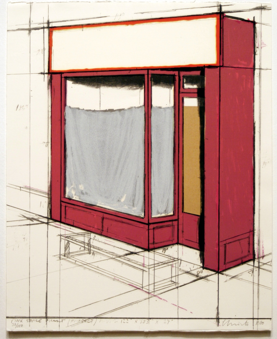 alt Pink Store Front, Project from Marginalia: Hommage to Shimizu, 1980