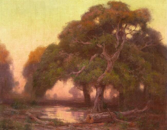 alt Oaks at Sunset