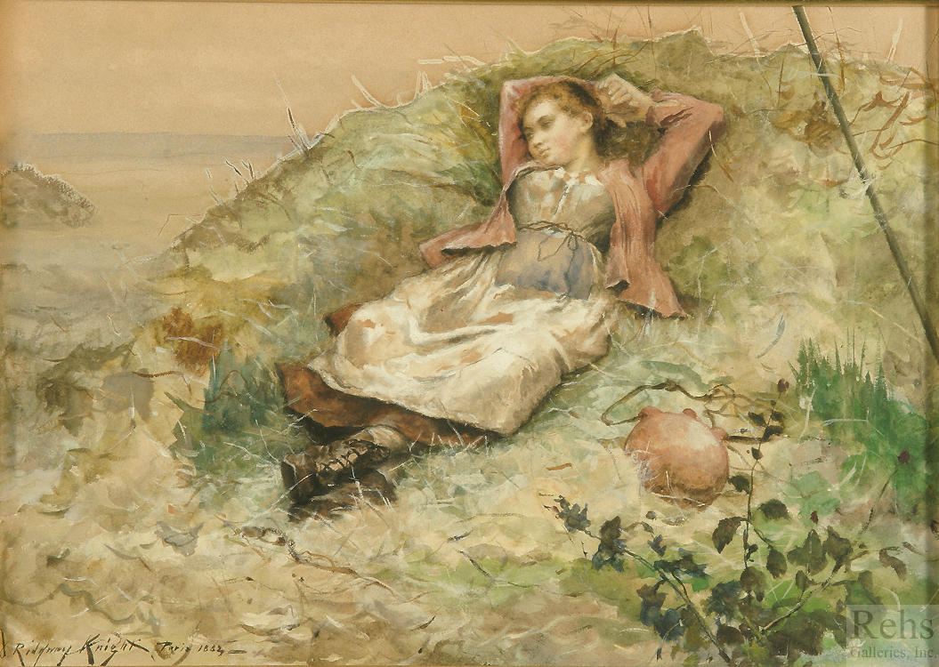 alt Study of Woman in Field