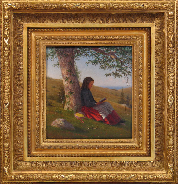 alt Young Girl Reading by a Tree