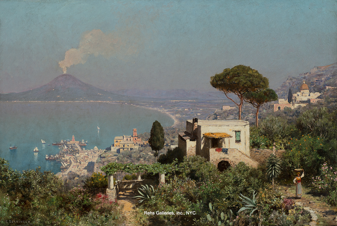 alt The Bay of Naples, Vesuvius Beyond