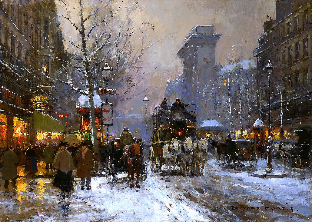 alt Porte St. Denis in Winter