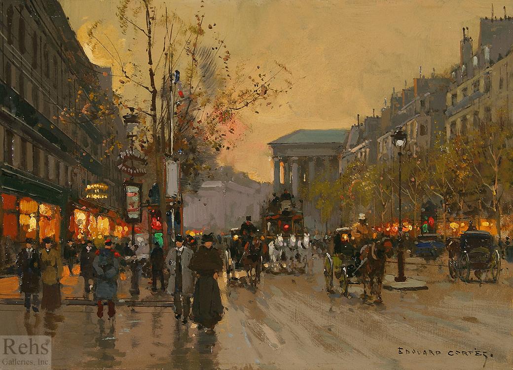 alt Boulevard de la Madeleine et rue Cambon