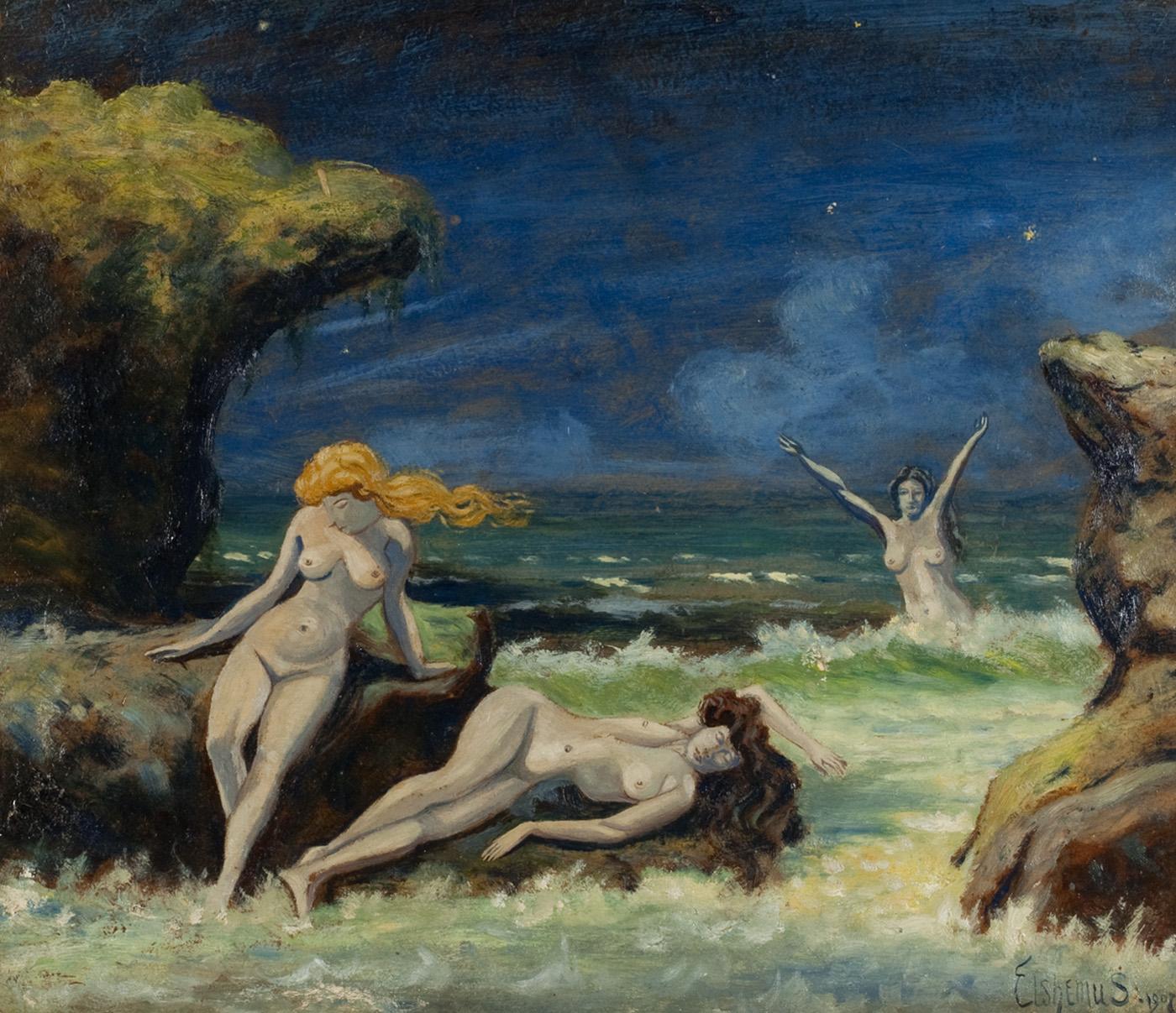 alt Nude Women on the Beach, 1907