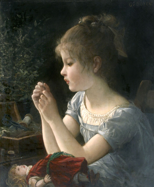 alt Petite fille et sa poupee (Girl with her doll)
