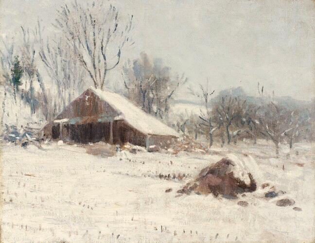 alt Barn in the Snow