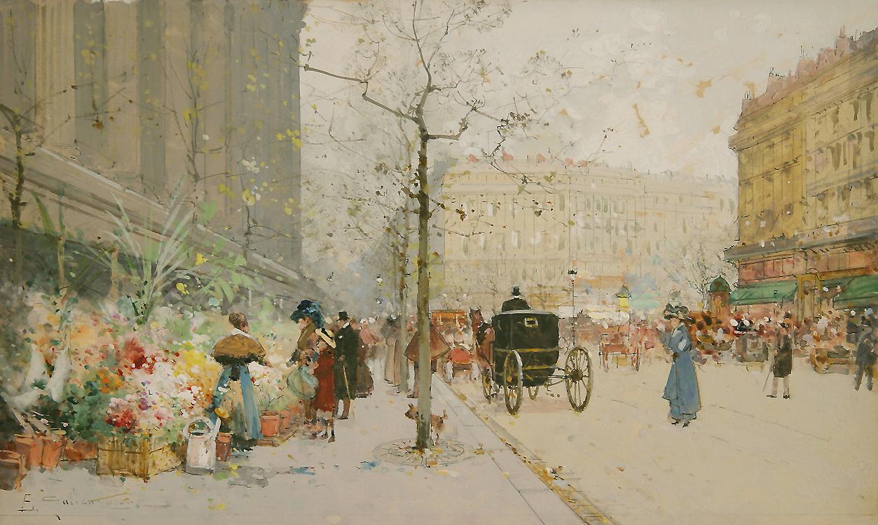 alt Paris, Le marche aux fleurs
