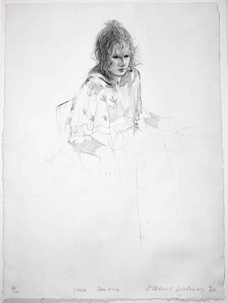 alt Celia Smoking, 1973