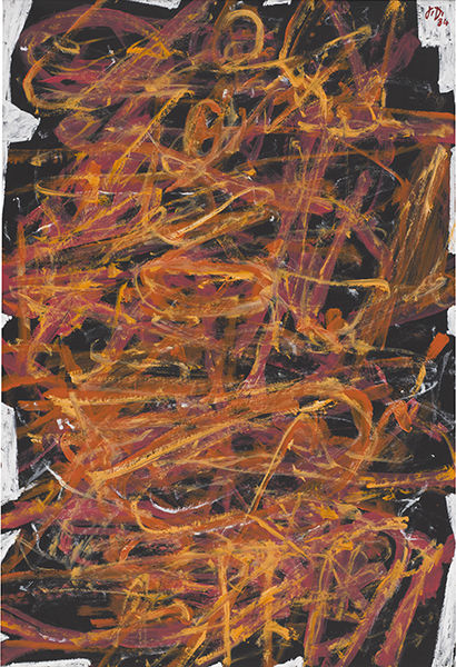 Ideoplasme VII (L-11) acrylic on canvas-backed paper painting by artist Jean Dubuffet