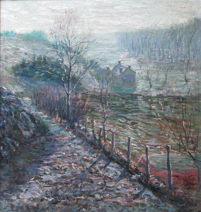 alt front: Landscape; back: Interior Scene
