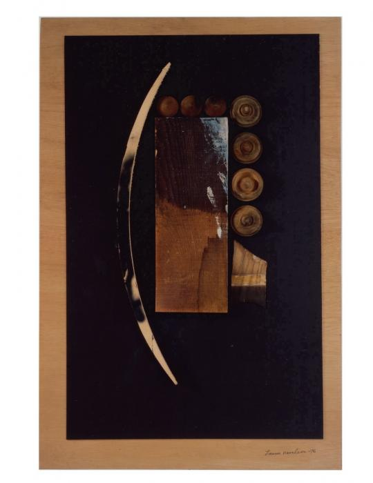Untitled wood and paper collage by artist Louise Nevelson