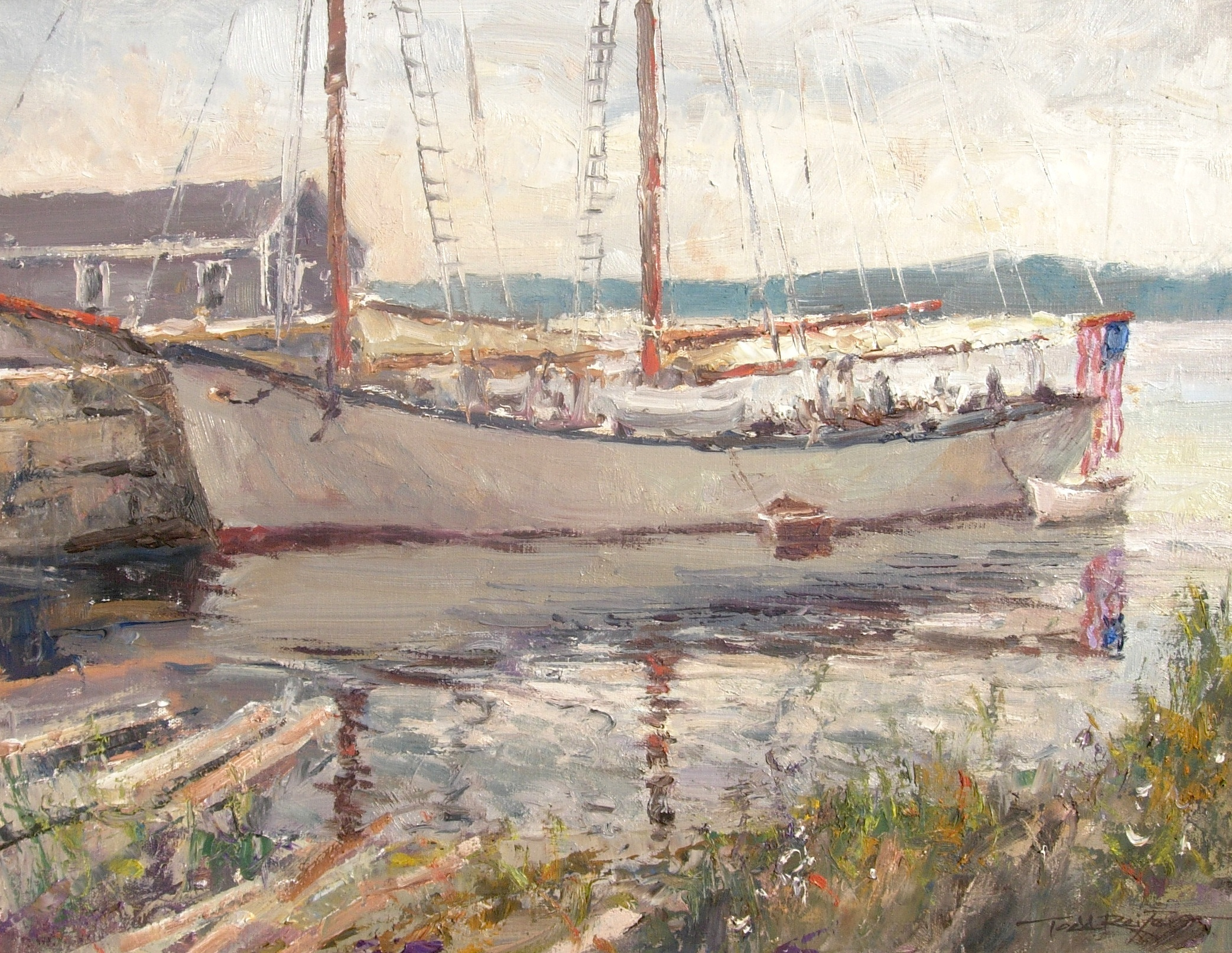 alt Schooner at Dock, Rockland