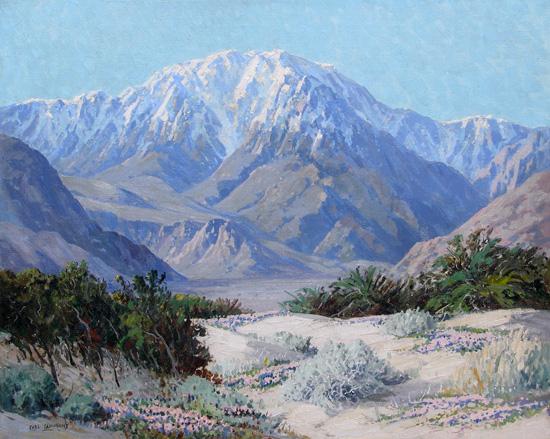 alt San Jacinto and Verbenas, Springtime