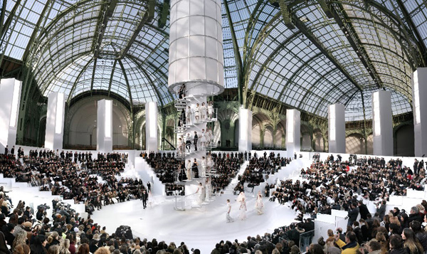 Chanel The Tower, Fall/Winter 2004, Le Grand Palais, Paris C-print by fine art photographer Simon Procter