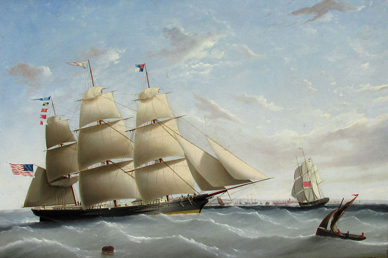 alt Clipper EMPRESS OF THE SEAS Off England, 1854  Portrait of the Donald McKay Built Clipper Ship