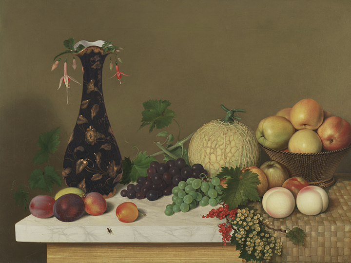 alt Still life with Fruit and Vase on a Tabletop, 1848