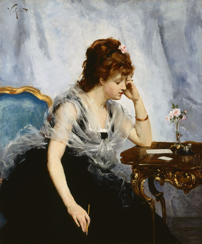 alt A Young Lady Writing a Letter