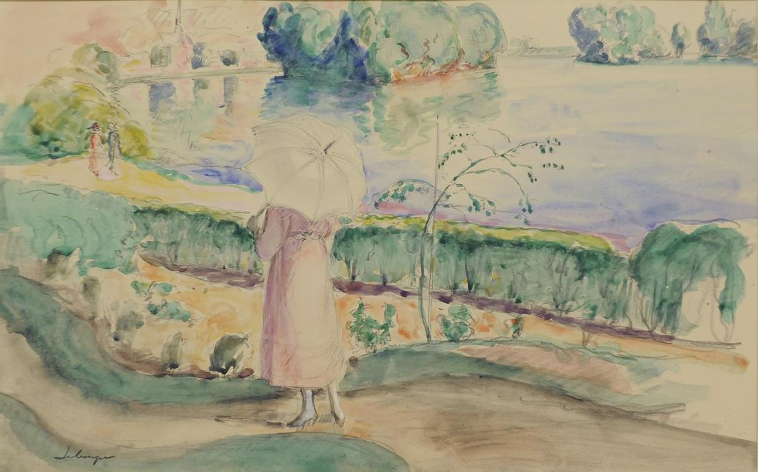 alt Jeune femme promenade dans le parc