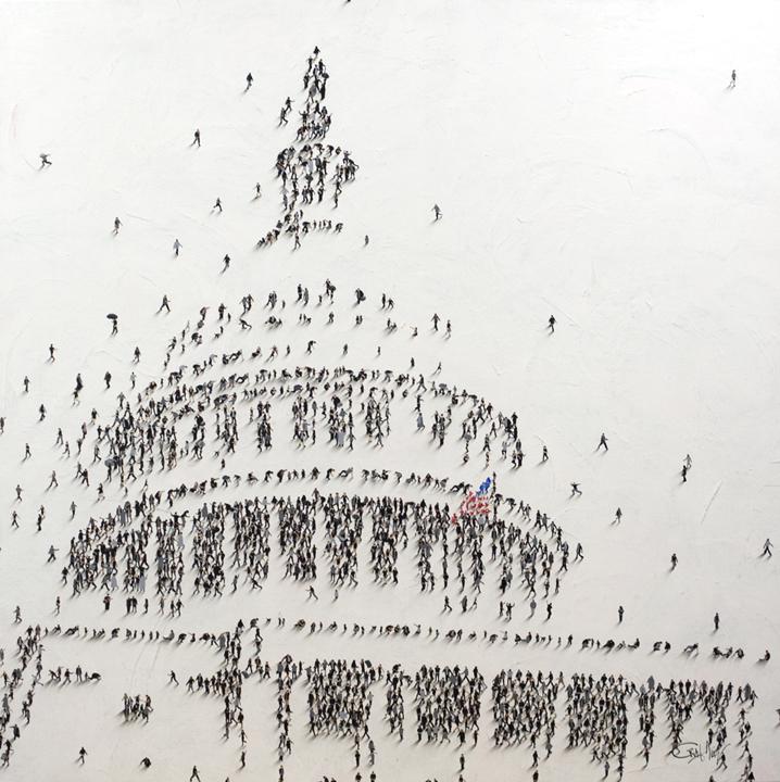 """alt Populus: Capitol """"Nos Autem Populus""""  We are the People"""