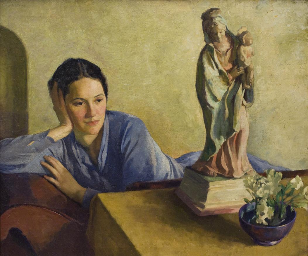 alt Artist's Daughter Tosca with Madonna Statue