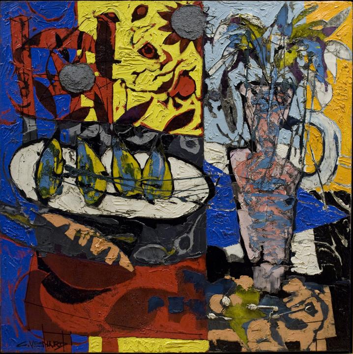 alt Nature morte à la chaise rouge et au vase (Still-life with Red Chair and Vase)