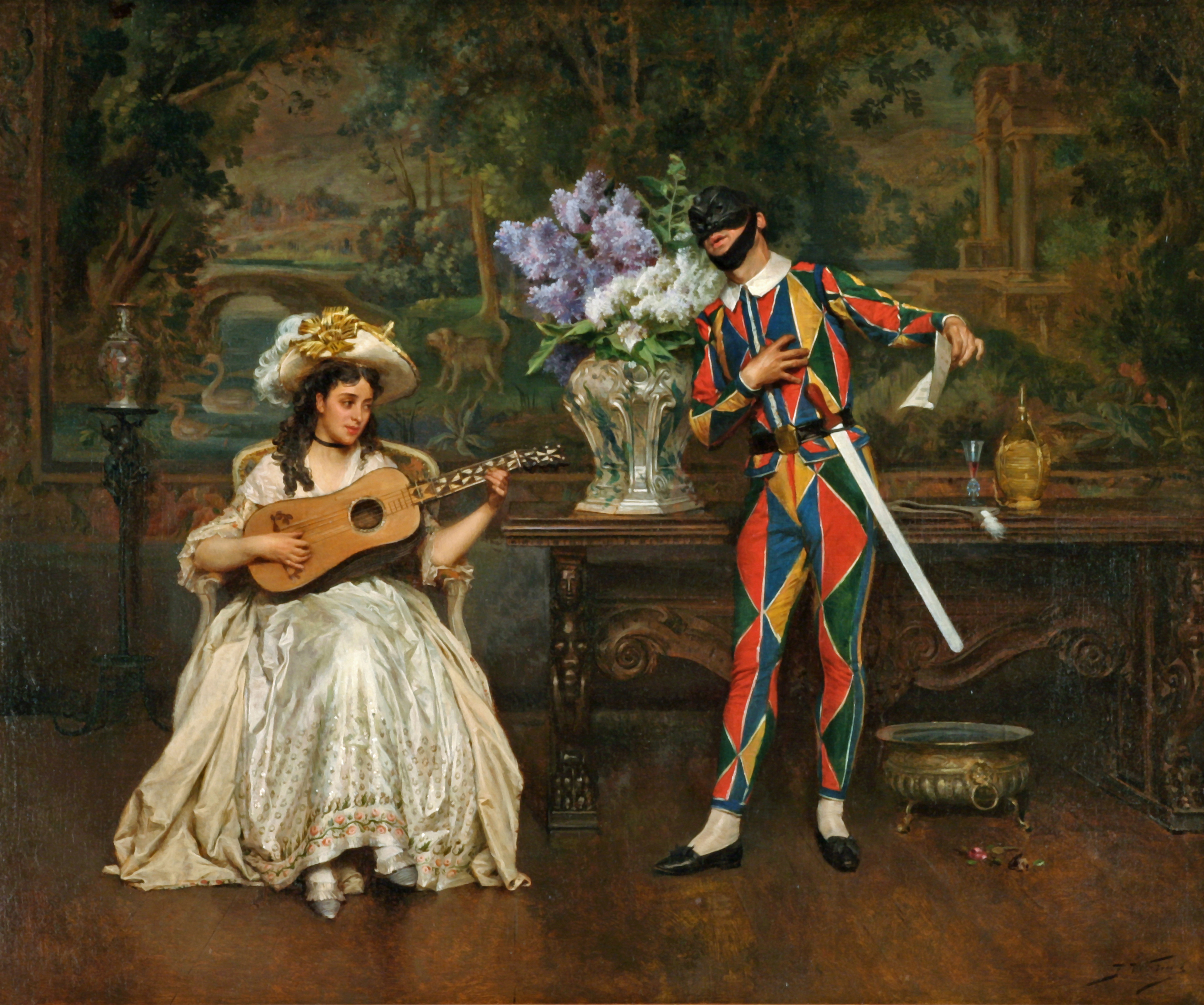 alt Musical Interlude–Woman and Harlequin