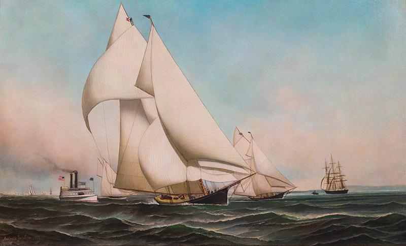 New York Yacht Club Fleet Race, 1889 PALMER Leading ATALANTA
