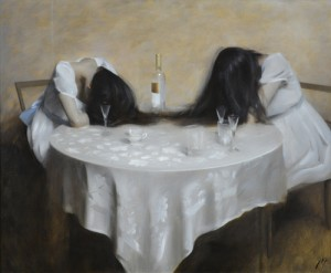 ALM-Drinking Sisters-uf-21.5 x 27.5