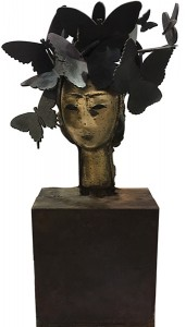 Mariposas, Bronze, 24 x 12 1/2 x 6 inches (61 x 31.8 x 15.2 cm) sculpture by artist Manolo Valdés