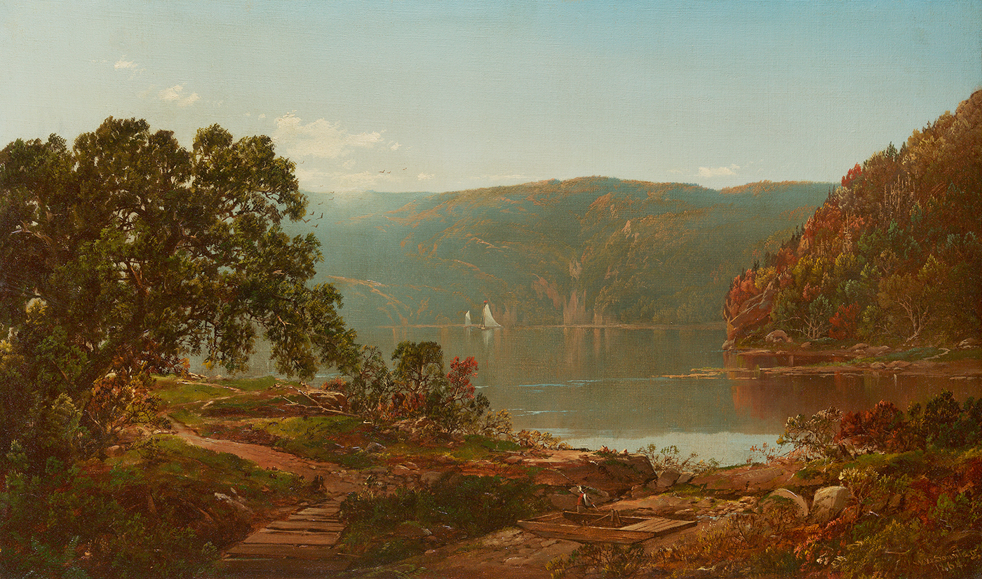 alt Morning on the Cro' Nest, Hudson River, 1864