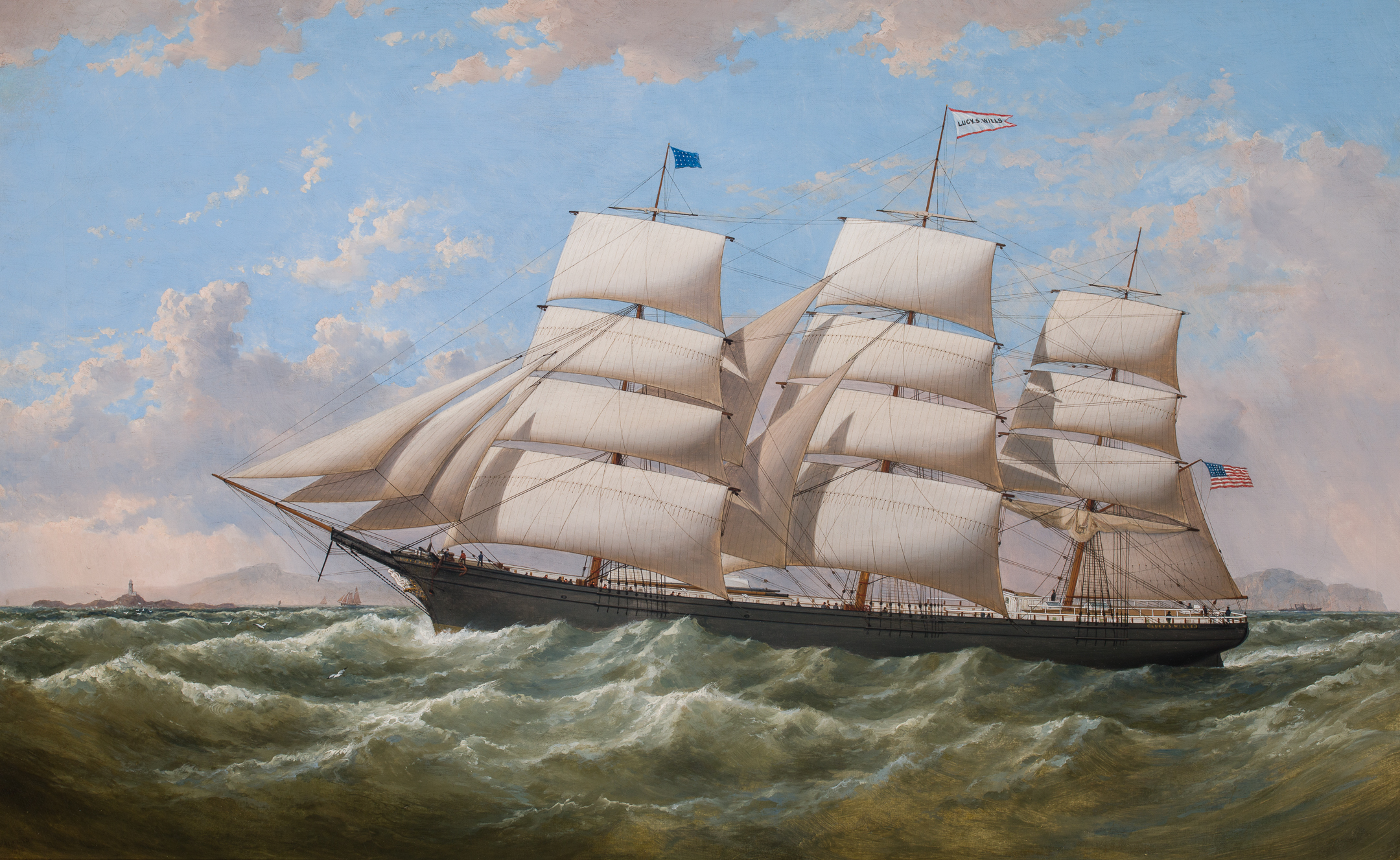Clipper LUCY S WILLS off the Skerries