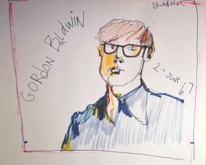 Gordon Baldwin, portrait by Peter Wolf