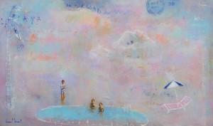 Ismael Rivera, Baru, 2015, acrilico sobre lienzo, 40 x 70 cm