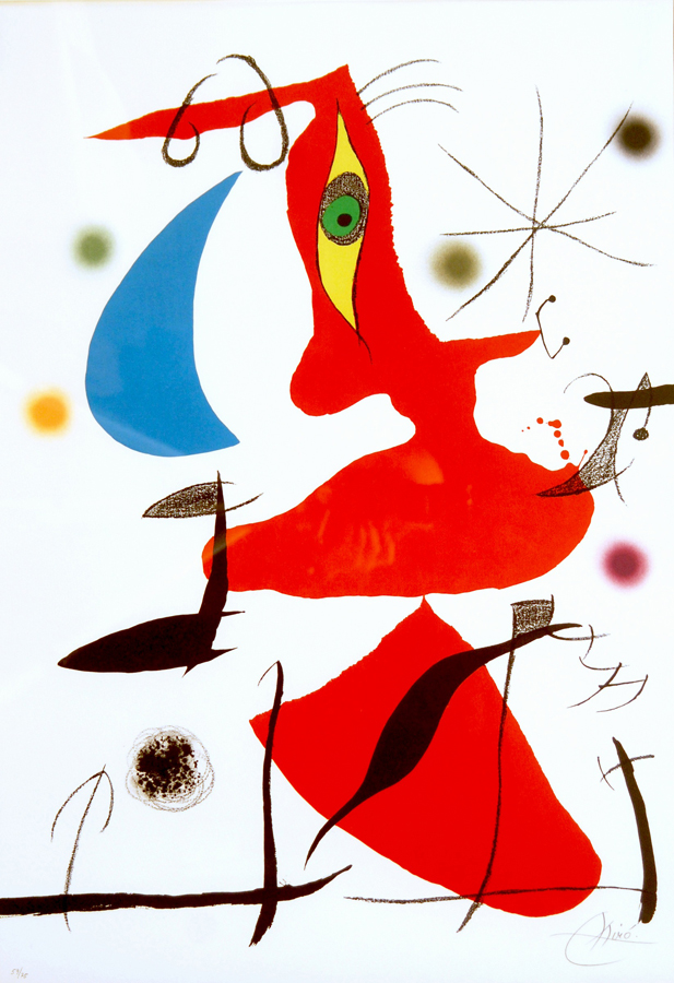 Oda a Joan Miro, authored by J. Brossa, Plate VII (of VIII)