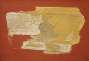 Santiago Uribe-Holguin, Composition in Red, 2014, mixed media on canvas, 70 x 100 cm