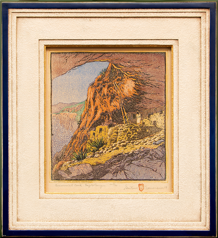 gustave baumann Ceremonial Cave at Frijoles Canyon (New Mexico)