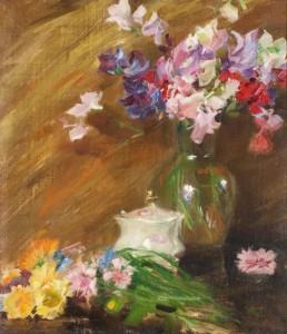 Wiles-Still Life with Bouquet and Sugar Bowl-inhouse