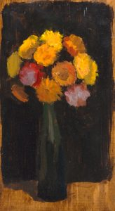 Kulicke-Flowers in a Green Vase-inhouse