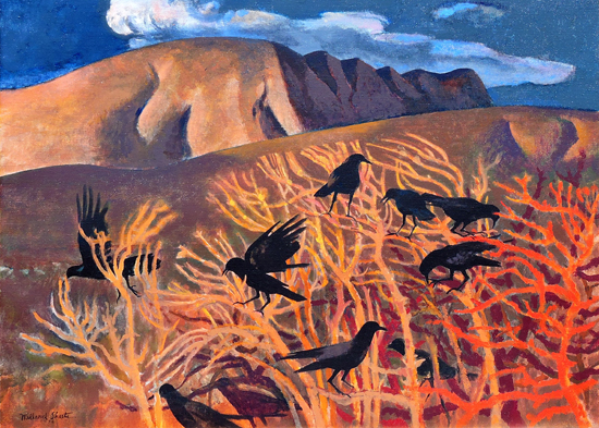 Crows in High Weeds